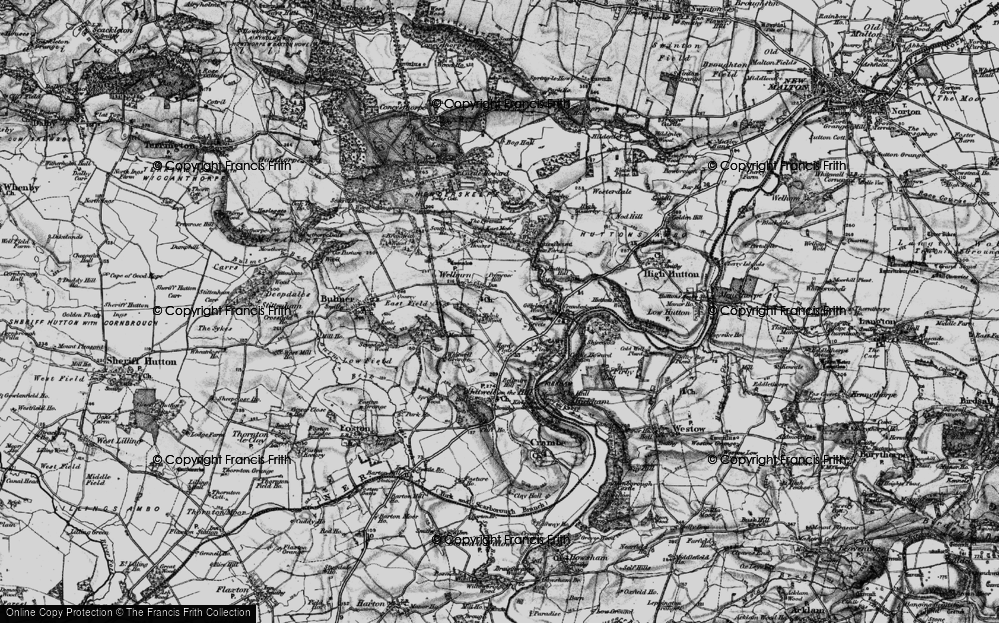 Old Map of Welburn, 1898 in 1898