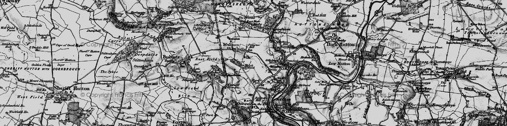 Old map of Welburn in 1898