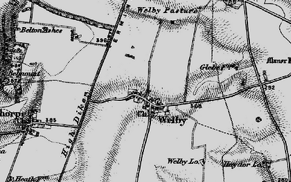 Old map of Abney Wood in 1895