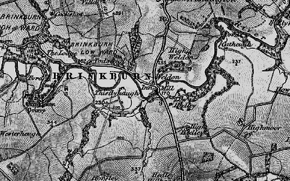 Old map of Todstead in 1897