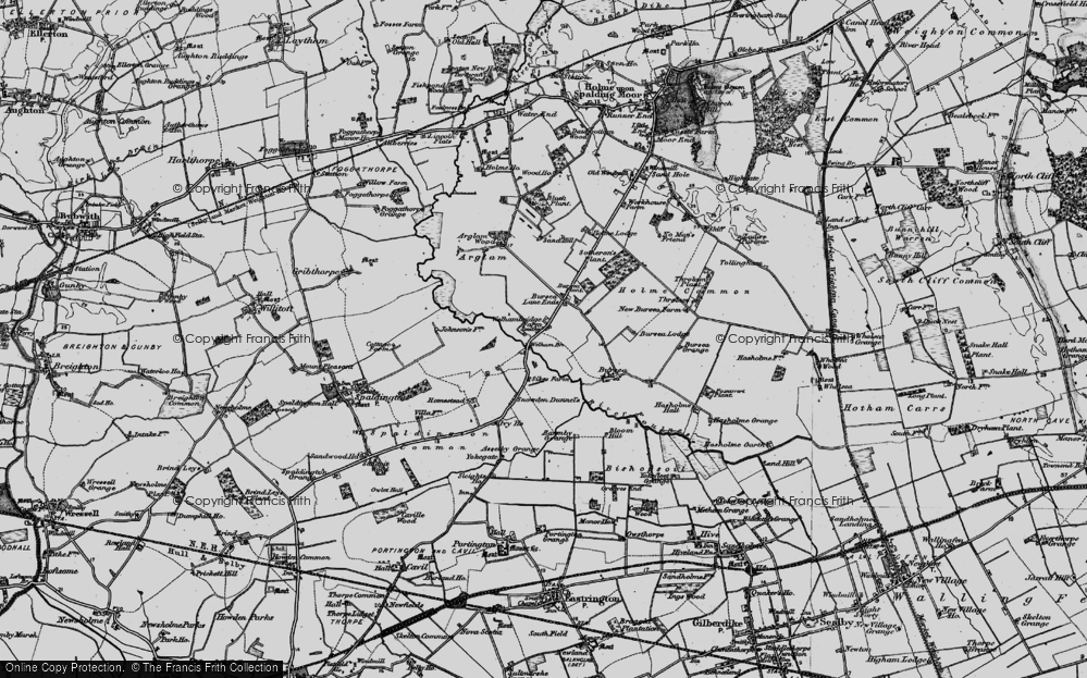 Old Map of Historic Map covering Yokegate in 1898