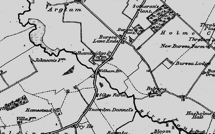 Old map of Yokegate in 1898