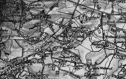Old map of Welland in 1898