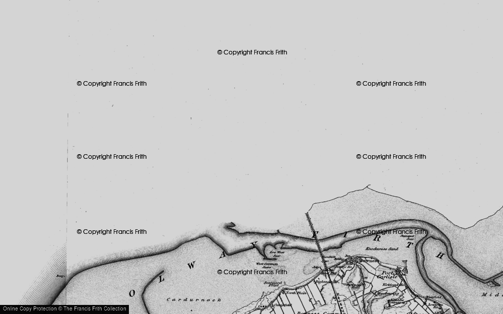 Old Map of Historic Map covering Limekilns in 1897
