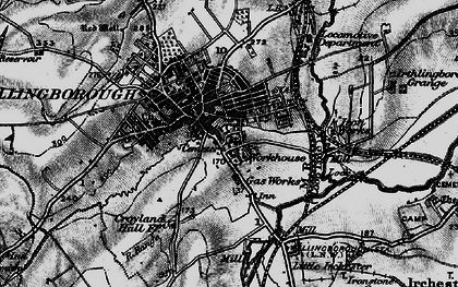 Old map of Wellingborough in 1898