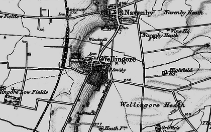 Old map of Wellingore in 1899