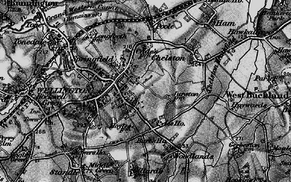 Old map of Wellington in 1898