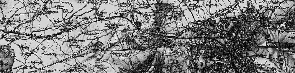 Old map of Wellington in 1899
