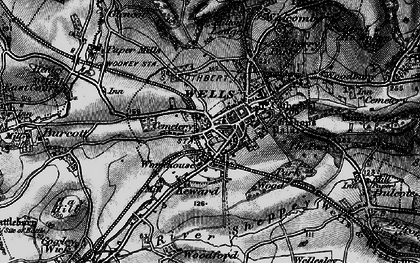 Old map of Wells in 1898