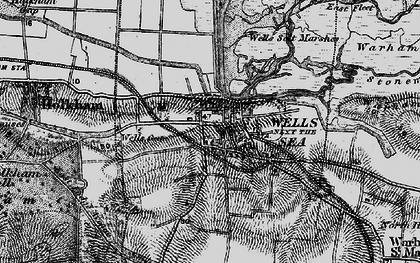 Old map of Wells-Next-The-Sea in 1899