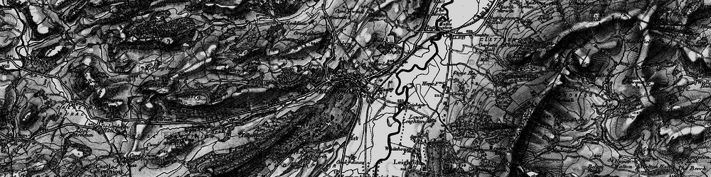 Old map of Welshpool in 1897