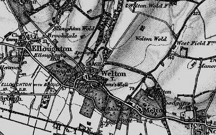 Old map of Welton in 1895