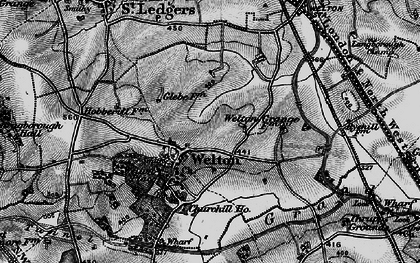 Old map of Welton in 1898