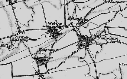 Old map of Welton in 1899