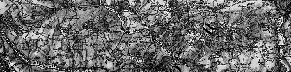 Old map of Welwyn in 1896