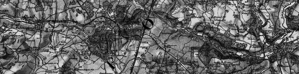 Old map of Welwyn Garden City in 1896