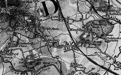 Old map of Wembley in 1896
