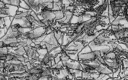 Old map of Abbotsham in 1898