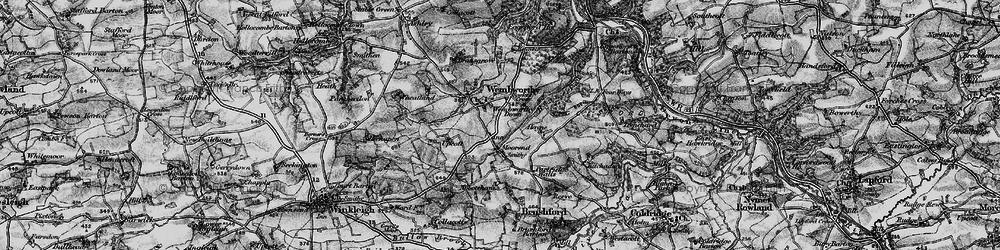 Old map of Abbotsham in 1898