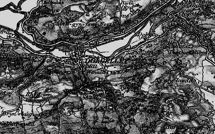 Old map of Afon Arran in 1899