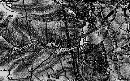 Old map of Audley End Sta in 1895