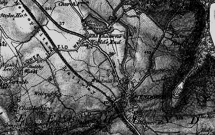 Old map of Wendover in 1895