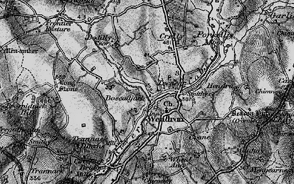 Old map of Wendron in 1895