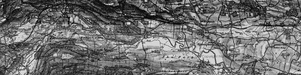 Old map of Wensley in 1897