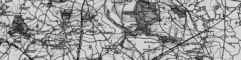 Old map of Wentbridge in 1896