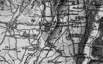 Old map of Asterton Prolley Moor in 1899