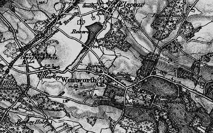 Old map of Wentworth in 1896