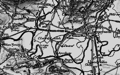 Old map of Aber Tanat in 1897
