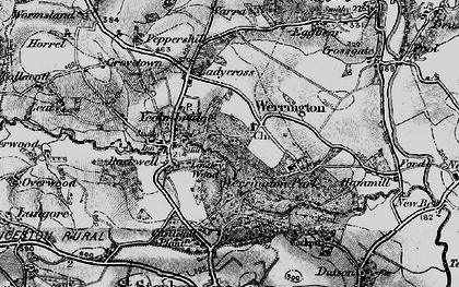 Old map of Werrington in 1895