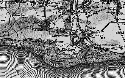 Old map of Leys Beach in 1897