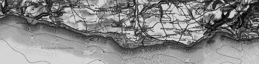 Old map of West Aberthaw in 1897
