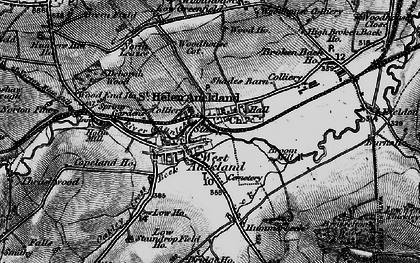 Old map of West Auckland in 1897