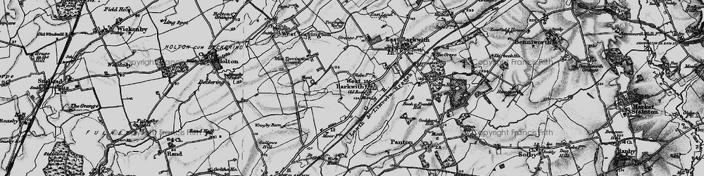 Old map of West Torrington Grange in 1899