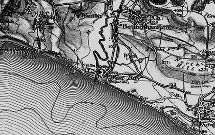 Old map of West Bay in 1897