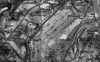 Old map of Wheal Betsy in 1896