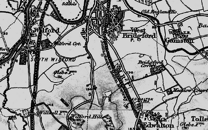 Old map of West Bridgford in 1899