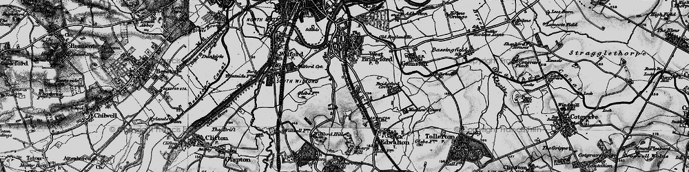 Old map of Wilford Hill in 1899