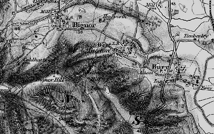 Old map of Westburton Hill in 1895