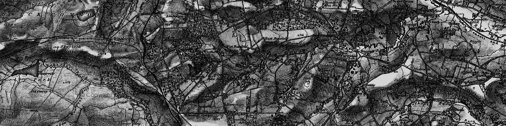 Old map of Wheatley Grange in 1898