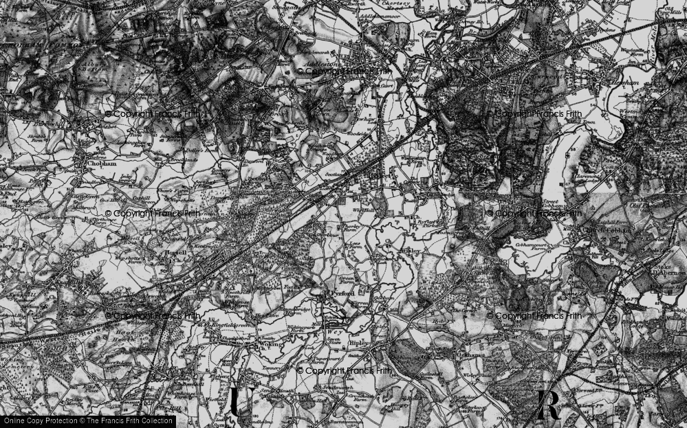 Old Map of West Byfleet, 1896 in 1896