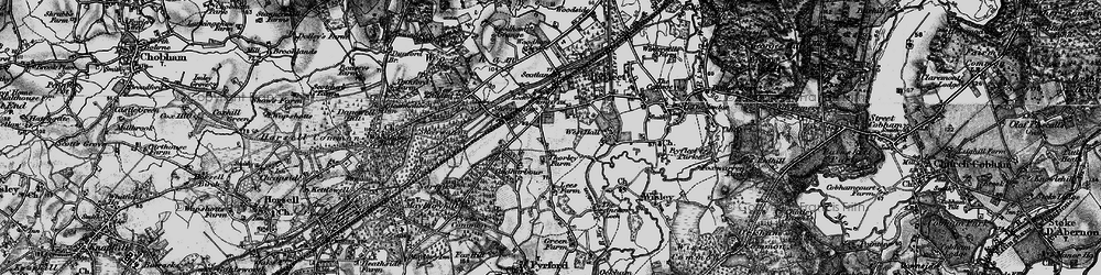 Old map of West Byfleet in 1896