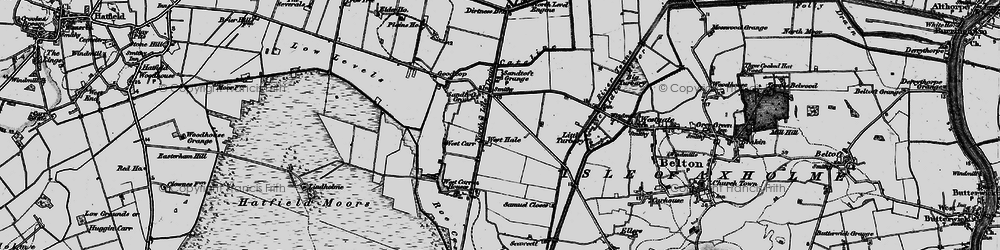 Old map of Lindholme Grange in 1895