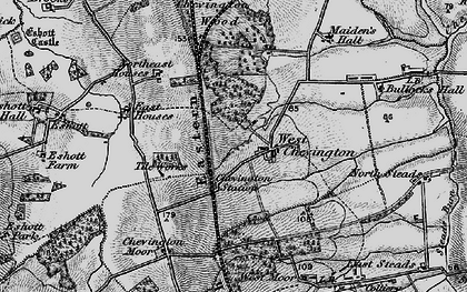 Old map of West Stobswood in 1897