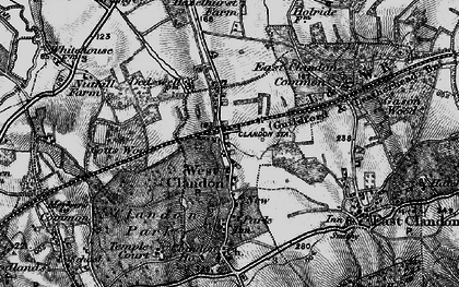 Old map of West Clandon in 1896