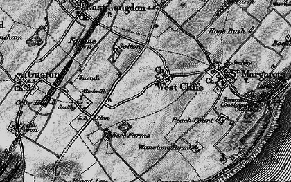 Old map of Langdon Bay in 1895