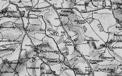 Old map of West Curry in 1895
